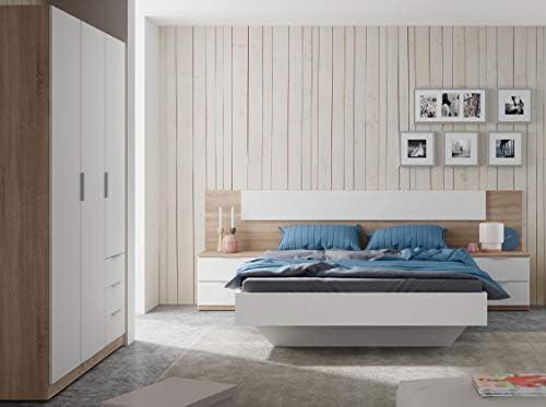 Miroytengo Pack Muebles Dormitorio Estilo nórdico para Camas 150 cm (Cabezal+2 mesitas+Armario): Amazon.es: Hogar