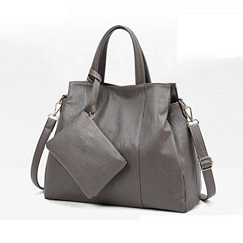 ZHANG Y&F Sra Bolsas de hombro Paquete cruzado oblicuo Bolsa de la madre bolso negro 35 * 29 * 13 cm, grey grey