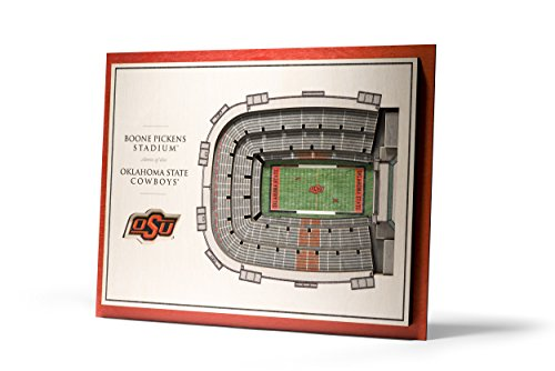 (NCAA Oklahoma State Cowboys 5-Layer Stadiumviews 3D Wall Art)