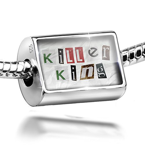 Sterling Silver Bead Killer King Ransom Blackmail Letter Charm Fits All European Bracelets