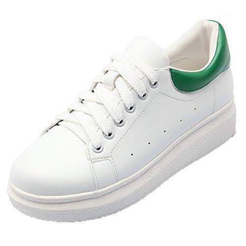 Pu Tå Grønn sko Rund Lukket up Assortert Blonder Hæler Odomolor Kvinners Kattunge Farge Pumper nSqwgR1K8M
