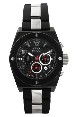 gino-franco-Mens-9657BK-Marathon-Round-Chronograph-Black-PVD-Plated-Stainless-Steel-Watch