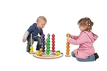Volkskunst Spielzeug SINA Mini-Kugelspiel Holzkugeln Kreativ Muster NEU Legespiel aus Holz Erzgebirge