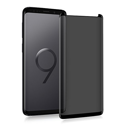 VitaVela Galaxy S9 Screen Protector(Privacy)[Updated Design] [Case Friendly] [3D Curved] Tempered Glass Screen Protector,for Samsung Galaxy S9 (5.8