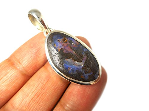 Australien Boulder Opal-Pendentif Femme-Argent 925/1000-(bopt3011161)-Boîte Cadeau