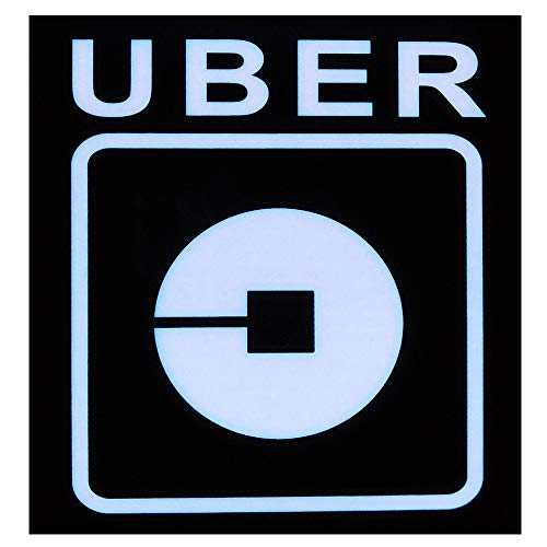 Rideshare Sign, LED Light Logo Sticker Decal Glow Decal Accessories Removable Rideshare Glowing Sign For Car Taxi - 3.5 M USB Interface Power Cord