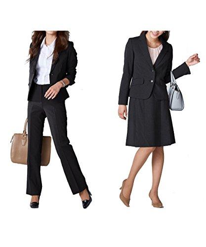 [nissen(ニッセン)] スーツ 上下 3点セット (ジャケット + パンツ + スカート) オフィス レディース 7号 9号 11号 13号 15号 17号