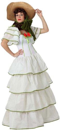 Atosa-15610 Disfraz Dama Sureña, Color blanco, XL (15610