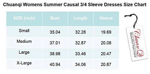 Crew Sleeve Blue T Fit Plain Womens Line A Chuanqi Tunic Neck Dresses Shirt 4 3 Loose Causal Tops SqOXIw1