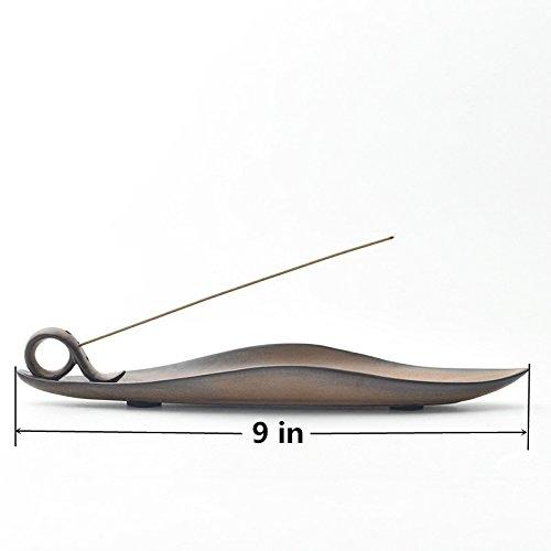 Djiale Incense Stick Holder Ceramic Incense Burner with Ash Catcher 9 inch(Shape 9) by Djiale (Image #2)