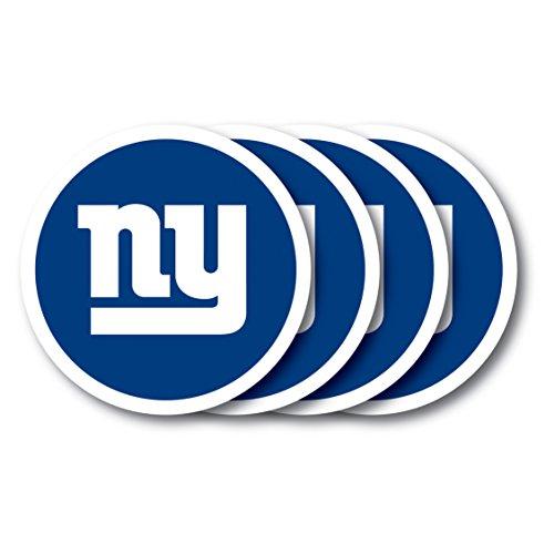 NFL New York Giants Vinyl Coaster Set (Pack of 4)
