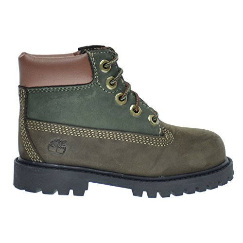 Timberland 6 Inch Premium Waterproof Toddlers/Infants Boots Brown/Green tb0a14wj (10.5 M US) ()