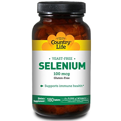 Country Life, Selenium, 100 mcg, 180 Tablets