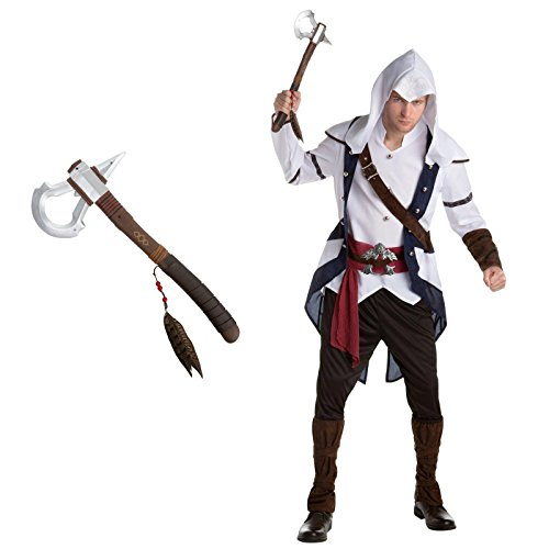 Assassin's Creed Connor Adult Costume Bundle Kit - (Video Game Cosplay Costumes)