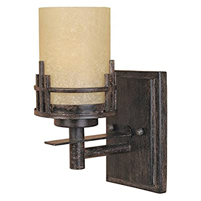 Designers Fountain 82101 Mission Ridge Wall Sconce in Warm Mahogany Finish