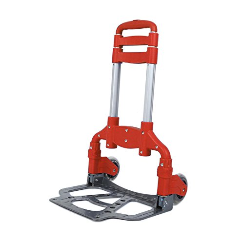 Telescoping handle Folding Hand Truck Heavy Duty Utility Cart Trolley Luggage Moving Portable