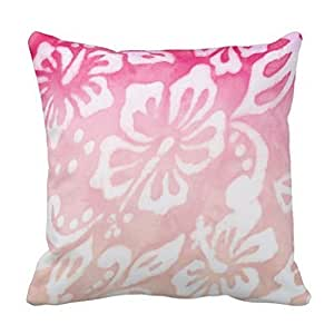 CBOutletArt Beach Wedding Hibiscus Flower Nautical Love #327 Cotton Linen Decorative Throw Pillow Case Cushion Cover 18*18 Inch