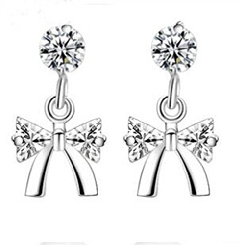 ER1210098C1 Fashion Silver Diamonds Women's Earring