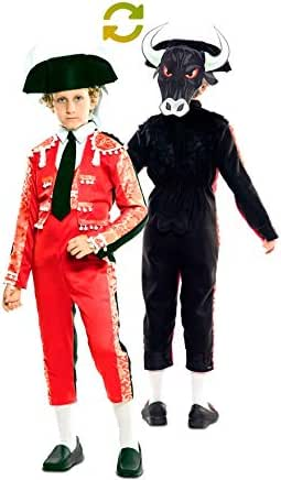 EUROCARNAVALES Disfraz Doble de Torero y Toro para niño: Amazon.es: Juguetes y juegos
