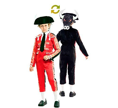 EUROCARNAVALES Disfraz Doble de Torero y Toro para niño: Amazon.es ...