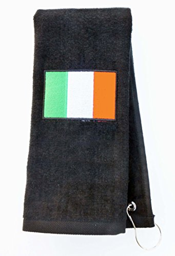 Mana Trading Custom Personalized Embroidered Golf Towel IRISH FLAG (Hunter (Irish Golf Towel)