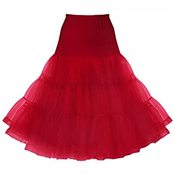 "Lindy Bop Classic 26"" Organza Petticoat at Amazon Women's"