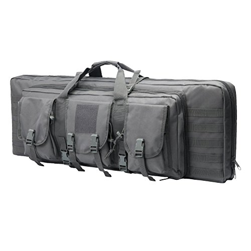 - ARMYCAMOUSA 38 Inch Double Rifle Bag Outdoor Tactical Carbine Cases Water dust Resistant Long Gun Case Bag for Hunting Shooting Range Sports Storage and Transport