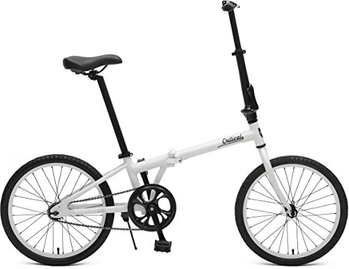 Critical Cycles 2640 Judd Folding Bike Single-Speed with Coaster Brake, Matte White, 26cm/One Size