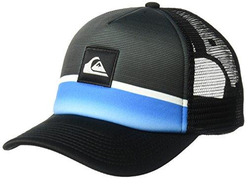 Quiksilver Men's Stripe Downer Trucker Hat, Electric Blue, One Size