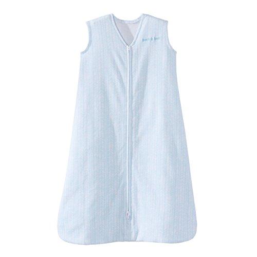 HALO SleepSack Wearable Blanket, 100% Cotton, Aqua Feather, Medium