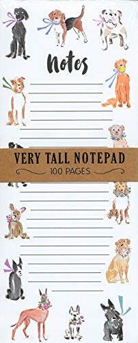 """Cute Multi Dog Breeds 100 Pages Tall Lined Magnetic Novelty List Note Pad 10"""" x 4"""""""