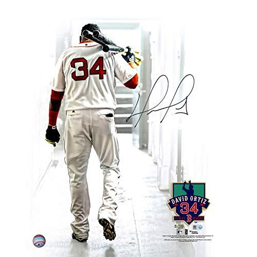David Ortiz Boston Red Sox FAN Autographed Signed 16x20 Walking Out Of Tunnel Photograph - Certified Signature