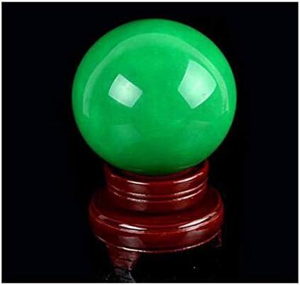 Ashy-wlj 装飾、蛍石ルミナスパールボール、ルミナスラッキー転送装飾、ムーンストーン蛍光石風水ボール、白6センチメートル (色 : 緑, サイズ : 6.0cm)