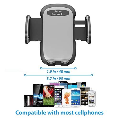 Beam Electronics Universal Smartphone Car Air Vent Mount Holder Cradle  Compatible With iPhone XS XS Max XR X 8 8+ 7 7+ SE 6s 6+ 6 5s 4 Samsung  Galaxy