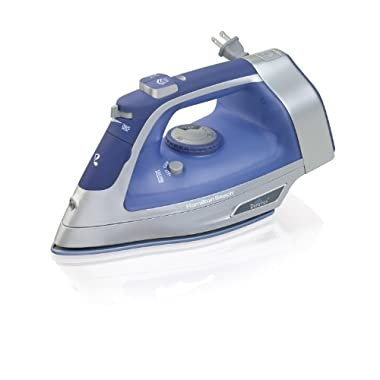 Hamilton Beach Steam Iron with Retractable Cord, 3-Way Auto Shutoff & Durathon Soleplate (19803)
