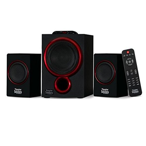 (Theater Solutions by Goldwood Bluetooth 2.1 Speaker System 2.1-Channel Home Theater Speaker System, Black (TS212))