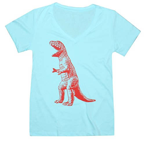 Happy Family Clothing Big Bang Theory T-Rex V-Neck Tee (Large, Bright (Bbt Shirts)