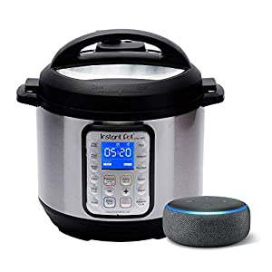 Instant Pot Smart WiFi 6 Quart Multi-use Electric Pressure with Echo Dot (3rd Gen) – Charcoal