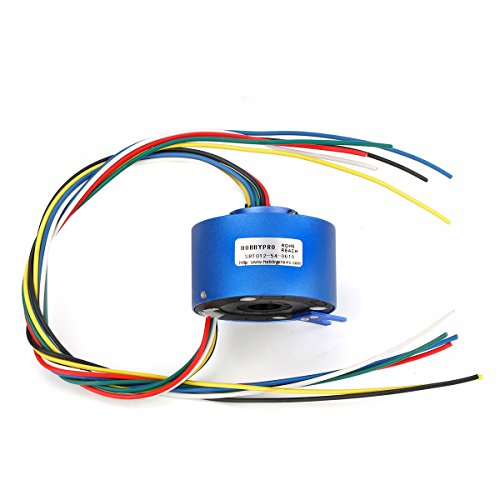 Price comparison product image Through Hole Slip Ring 6 Circuits 10A/Circuit Hollow Shaft 12.7mm plated copper UL Teflon