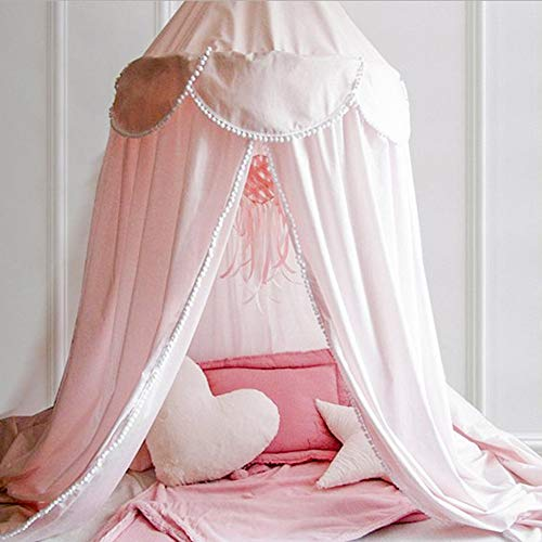 Softmusic 240cm Kids Baby Room Bed Curtain Canopy Pointed Tassel Hung Mosquito Net Pink by Softmusic (Image #3)