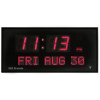 Amazon Com Big Oversized Digital Led Calendar Clock With