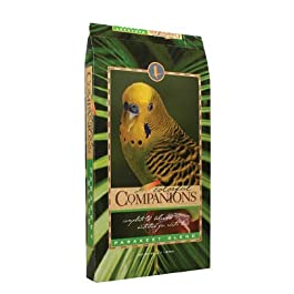 Colorful Companions | Parakeet Bird Food Blend | Nutritionally Complete | Premium Grains and Seeds | 25 Pound (25 lb) Bag