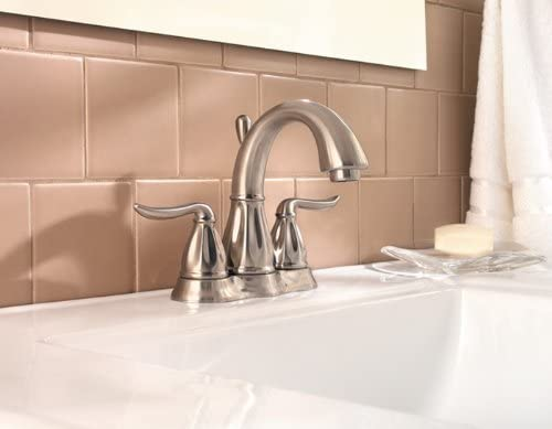 Pfister F048LT0K Sedona 2-Handle 4 Inch Centerset Bathroom Faucet in Brushed Nickel