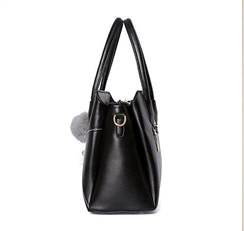 Bolsos Desgaste Meaeo Impermeable Cómodo Negro Bag Simple Todos Black Match De Bolso Satchel Pequeño Moda ZUwdqU