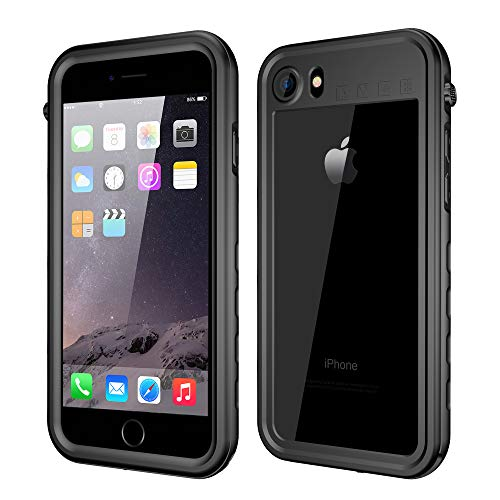 (Binager iPhone 7/8 Waterproof Case [4.7inch], IP68 Certified Full Body Protection, Built in Screen Protector with Touch ID, Dirtproof Shockproof and Snowproof for Outdoor Sports)