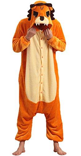 Cute Japanese Animal Costumes (NOL Unisex Adult Lion King Onesie Pyjamas Kigurumi Costumes XLarge Yellow)