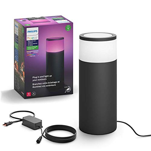 Philips Hue Calla White & Color Ambiance Outdoor Pathway Light Base Kit, 1 light, power supply & mounting kit,