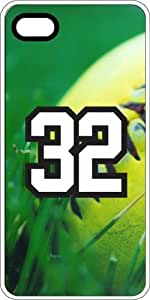 Baseball Sports Fan Player Number 32 White Plastic Decorative iPhone 4/4s Case