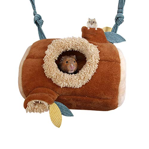 JanYoo Syrian Hamster Bed Hideout Accessories Hedgehog Hammock House Tunnels for Rat Sugar Glider