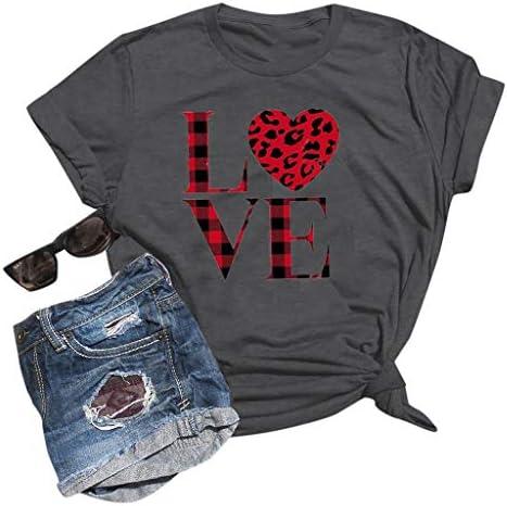 [해외]Love Heart T-Shirts Womens Graphic Valentines Day Shirts Casual Short Sleeve Tops Blouse / Love Heart T-Shirts Womens Graphic Valentines Day Shirts Casual Short Sleeve Tops Blouse